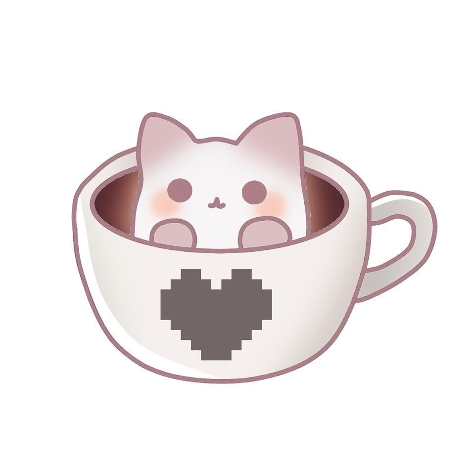 cat in a cup☕