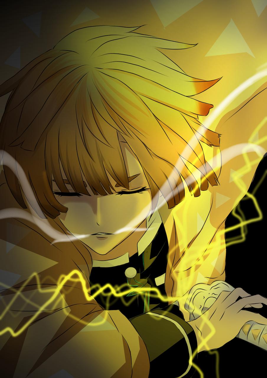 Zenitzu Agatsuma  Illust of Kenshiin03 DemonSlayerFanartContest medibangpaint KimetsunoYaiba AgatsumaZenitsu D iPad_raffle Trace&Draw【Official】