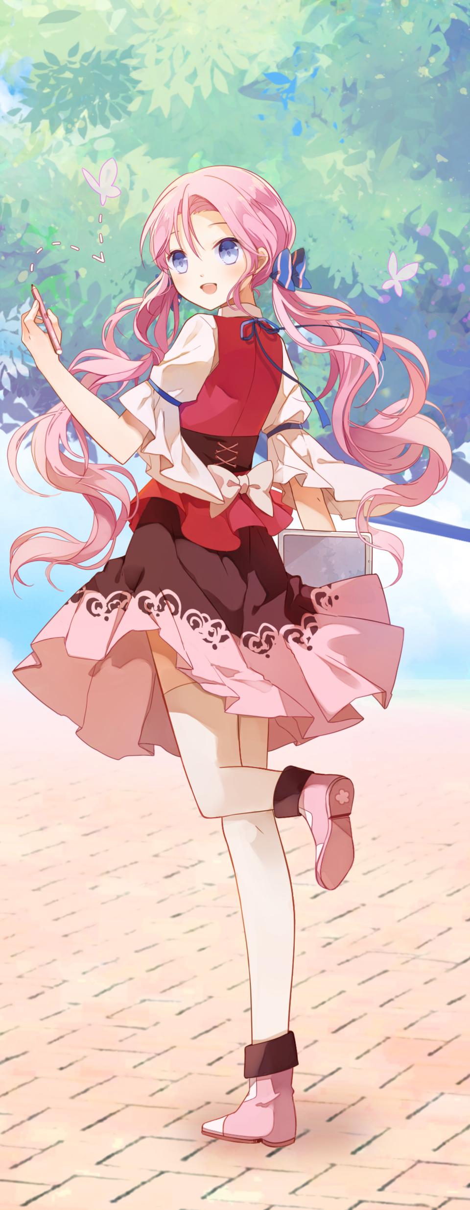 pink Illust of 雲小栗 PASTEL_SKETCH2020 girl pink