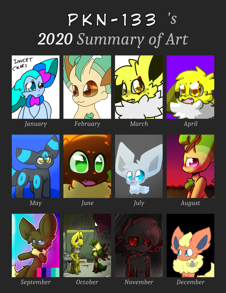 2020 Art Summary Illust of ✨ PKN-133 ✨ medibangpaint furry artsummary oc PKN-133