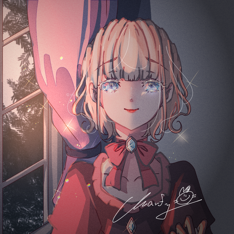 Morn' Illust of Marfy impasto メルヘン きらきら kawaii 宝石 girl ロココ ribbon portrait