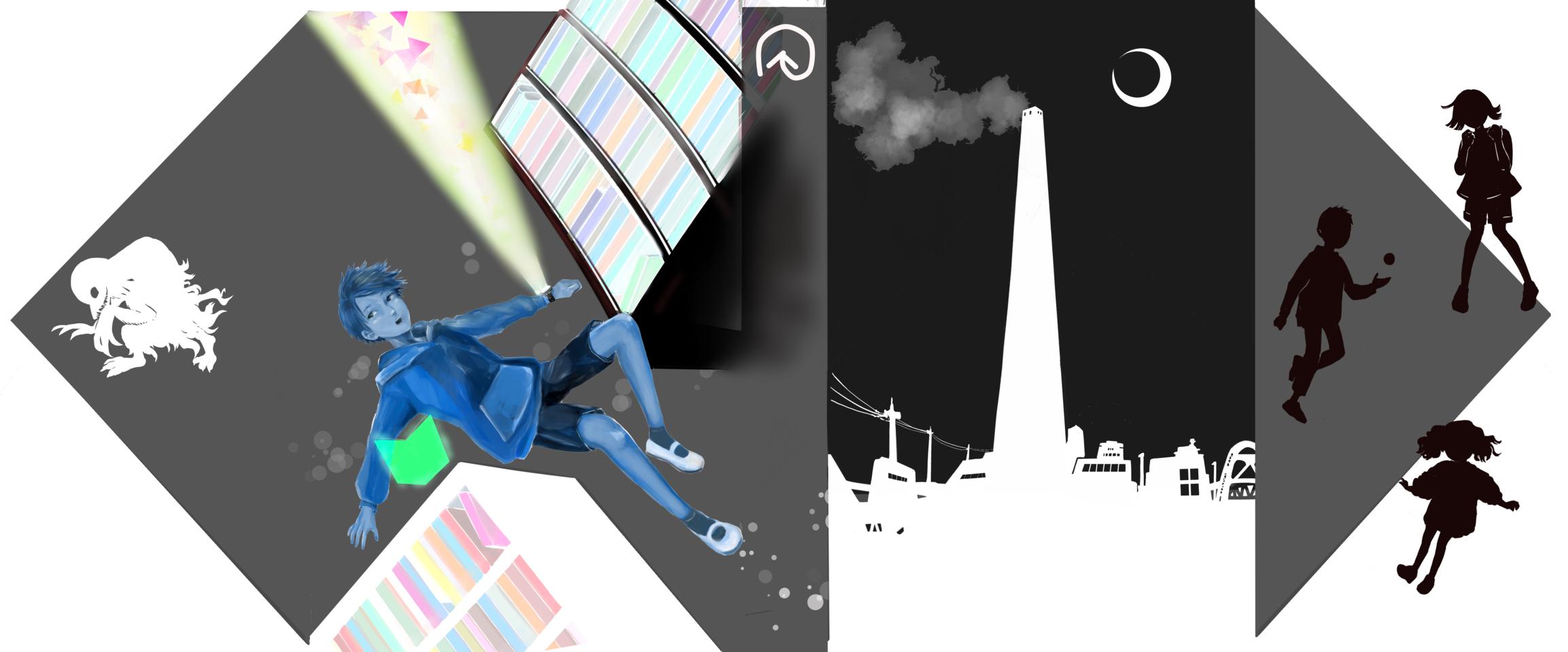 小説『ぐるりと』カバーイラスト募集コンテスト Illust of Megane Spinning_contest