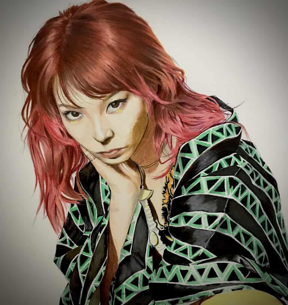 LiSA Illust of fish wong DemonSlayerFanartContest FreeHongKong 紅蓮華