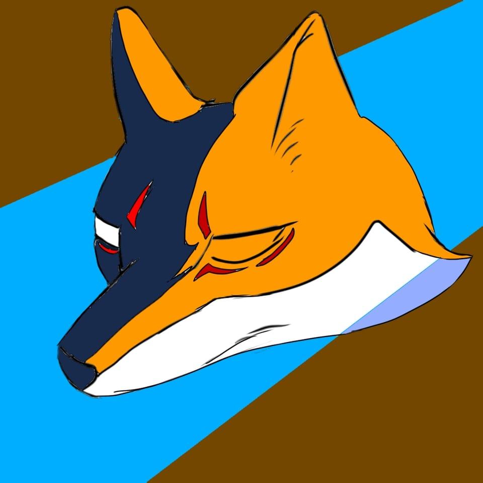 オリキャラマーク Illust of ma×2 fox color design