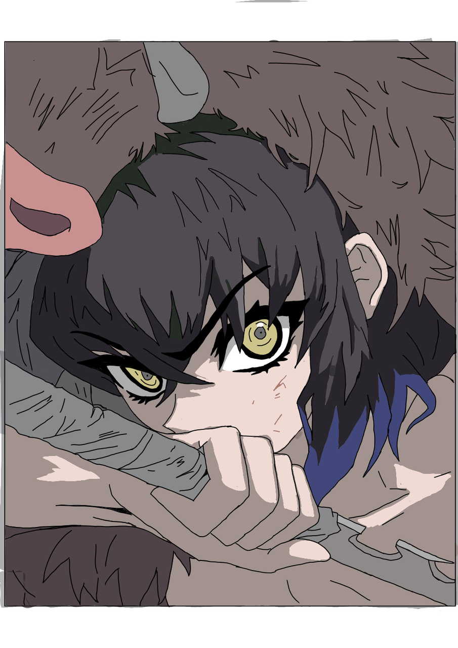 Inosuke Hashibira Illust of YoonKimin09 medibangpaint anime