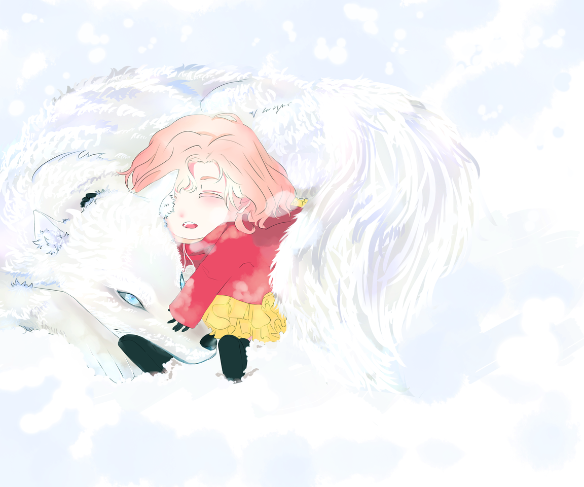 white wolf / 白いオオカミ Illust of seira September2020_Contest:Furry snowy wolf whitefur furry 白いオオカミ whitewolf