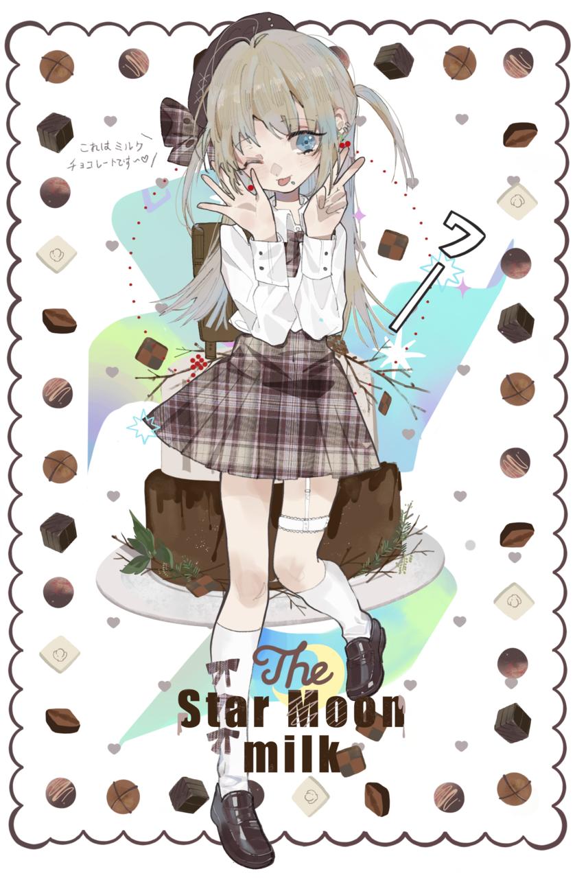 jk双子 Illust of 九木口冬 illustration 女子高生 设计 original JK 原创oc oc
