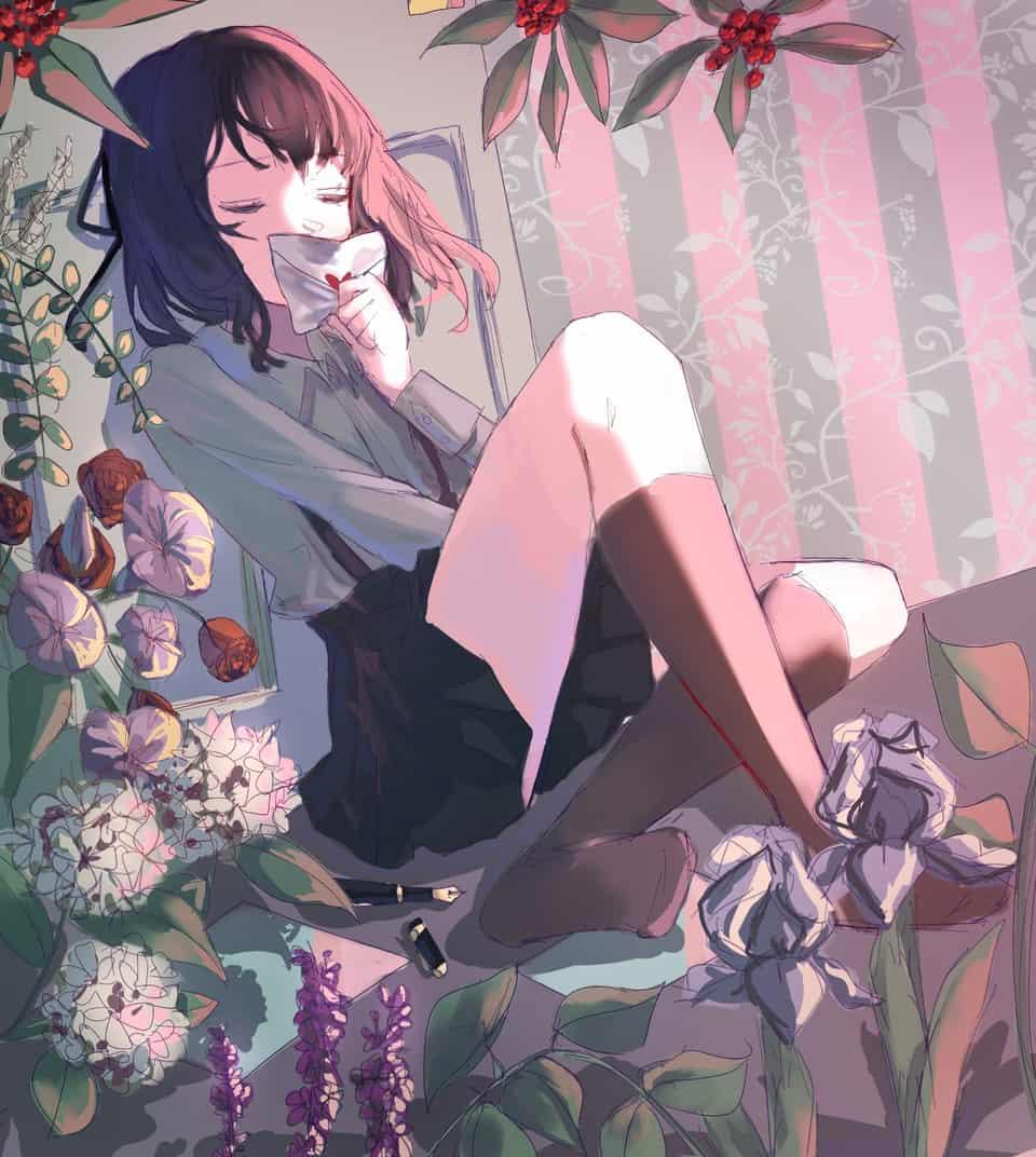 그림 Illust of 향화 手紙 flower