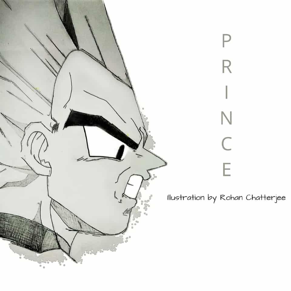 Prince Vegeta Illust of Sinchan96 witch illustration DRAGONBALL blackandwhite digital anime fanart Vegeta contest manga