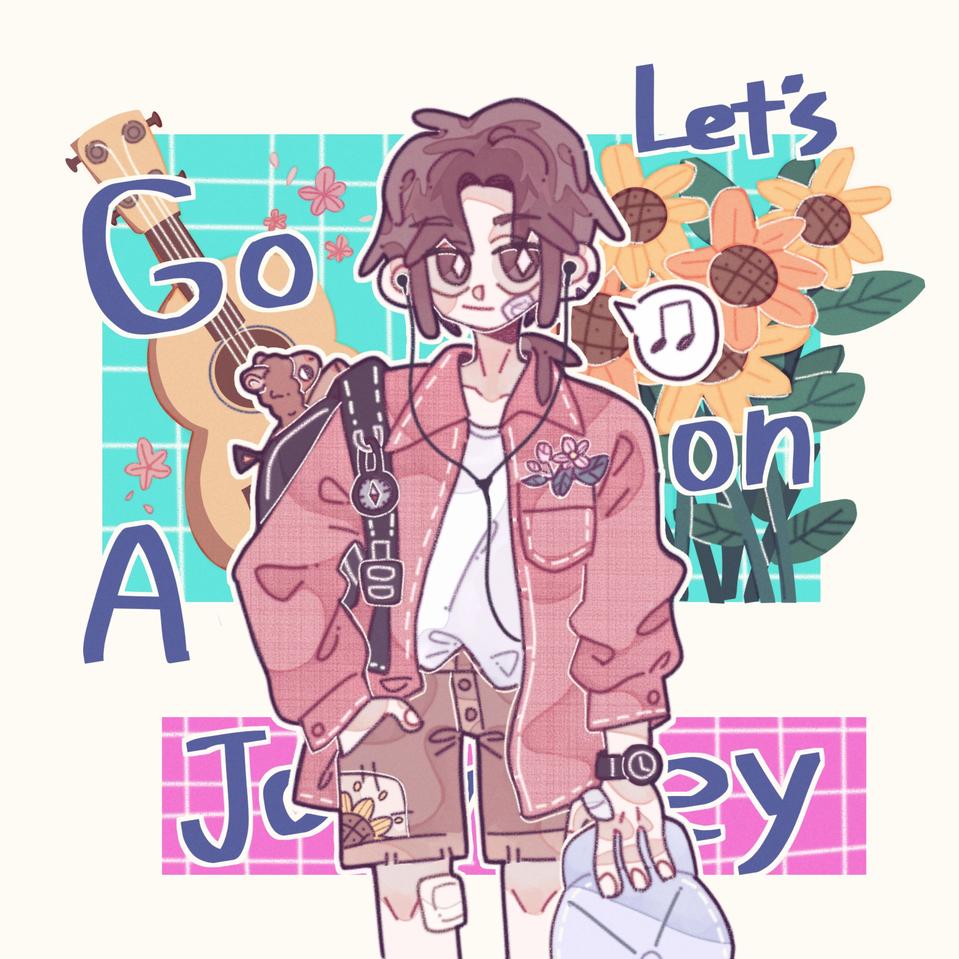 旅行者🌈 Illust of 余生太常💫 medibangpaint original girl oc 人物 illustration Fingerpaint