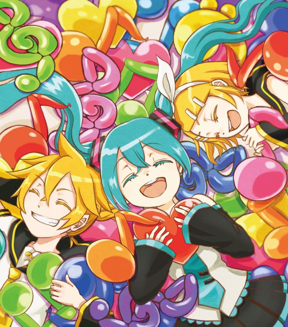 misic pool Illust of ゆずあり VOCALOID Kagamine_Rin KagamineLen hatsunemiku Balloon