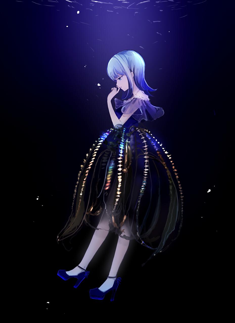 クラゲのドレス Illust of 通草 jellyfish girl sea original