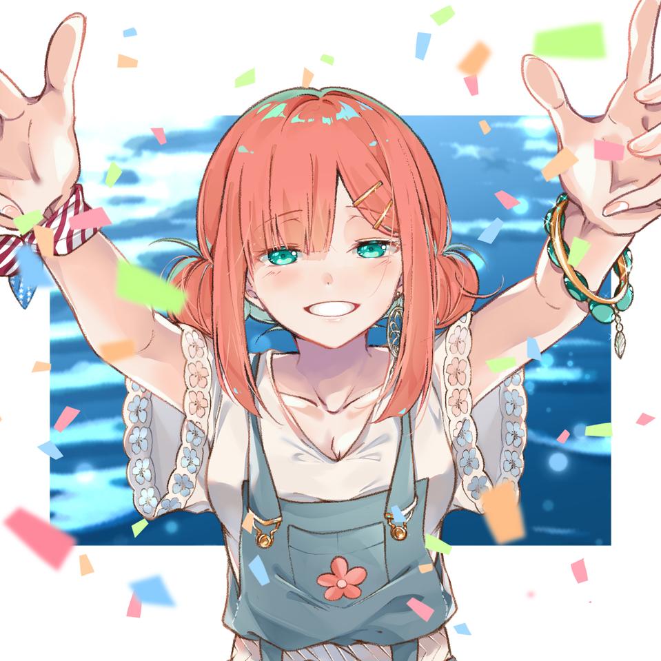 笑顔 Illust of かみな medibangpaint girl muy es smile original nwn lindo