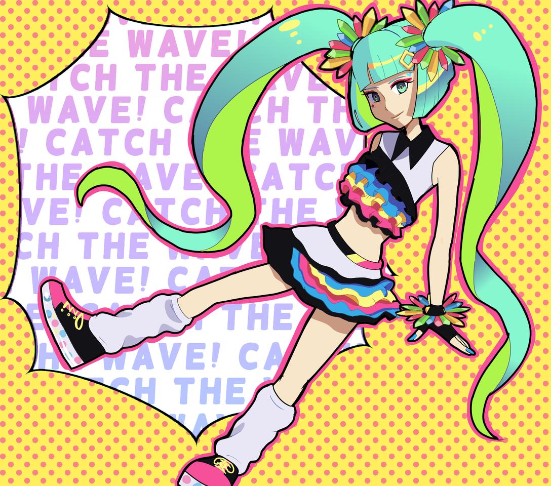 Catch the wave! Illust of gummyshark medibangpaint anime hatsunemiku Catchthewave VOCALOID Miku
