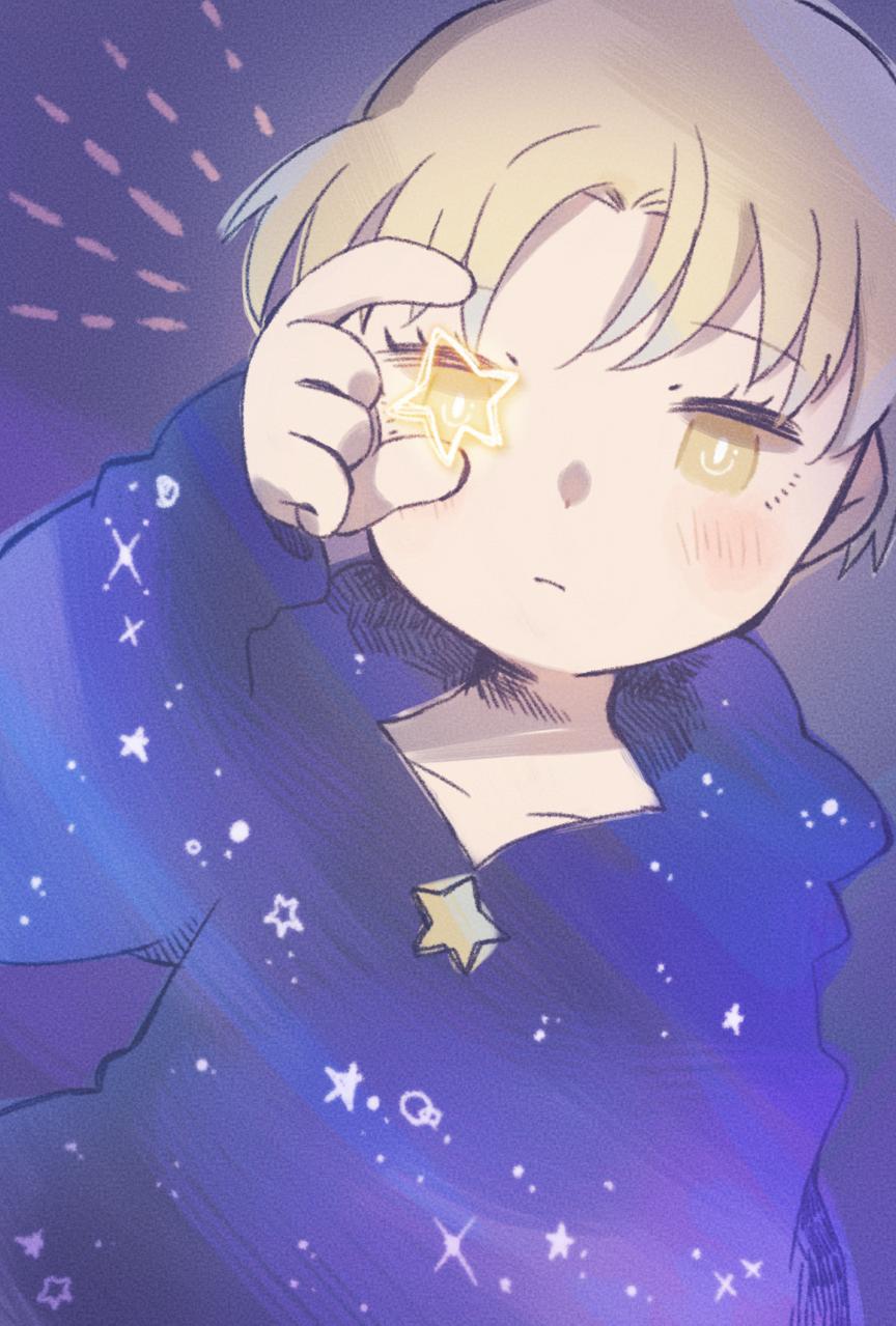stargazer Illust of 中村想 blue medibangpaint boy oc star