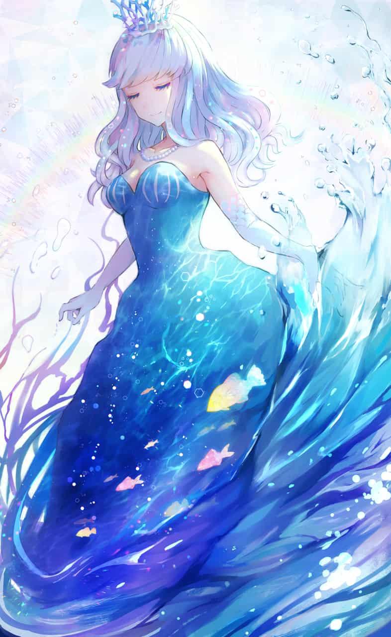 海のドレス Illust of もふ April.2020Contest:Color ARTstreet_Ranking summer girl sea original blue water oc