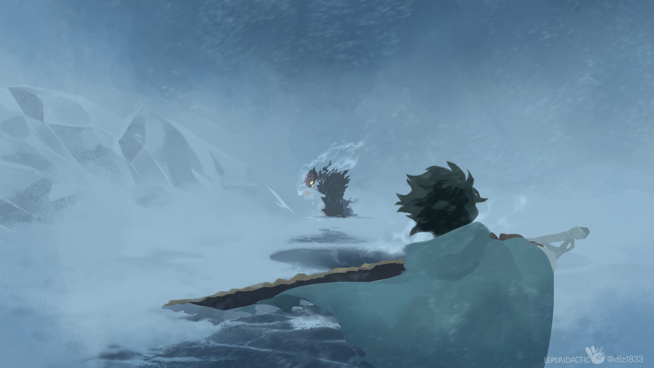 From winter's darkest snare... Illust of Leporidactic MyHeroAcademia ice todoizu tododeku snow 轟出
