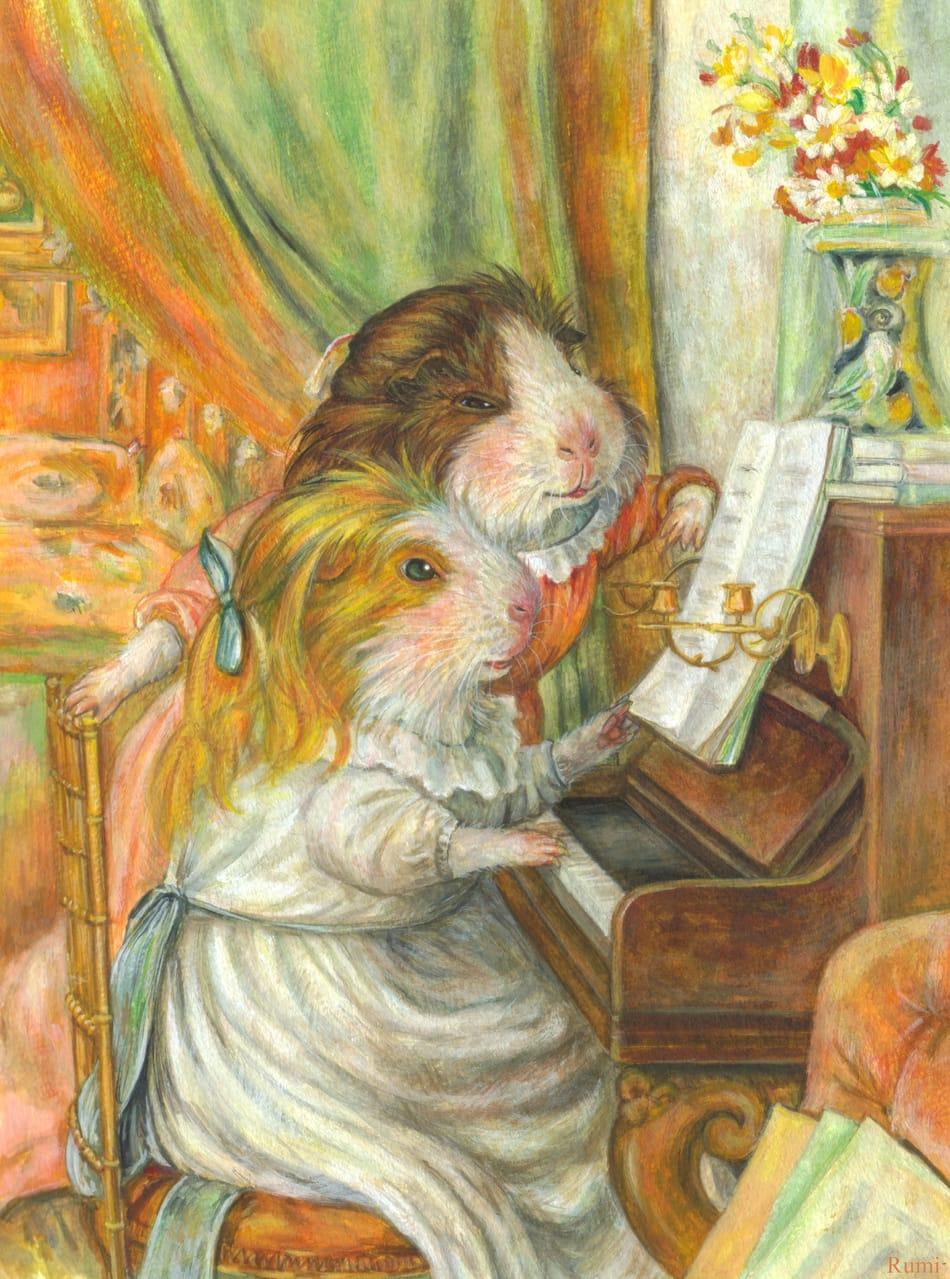 「ピアノによるモルモットたち」 Illust of Rumi MasterpieceFanart