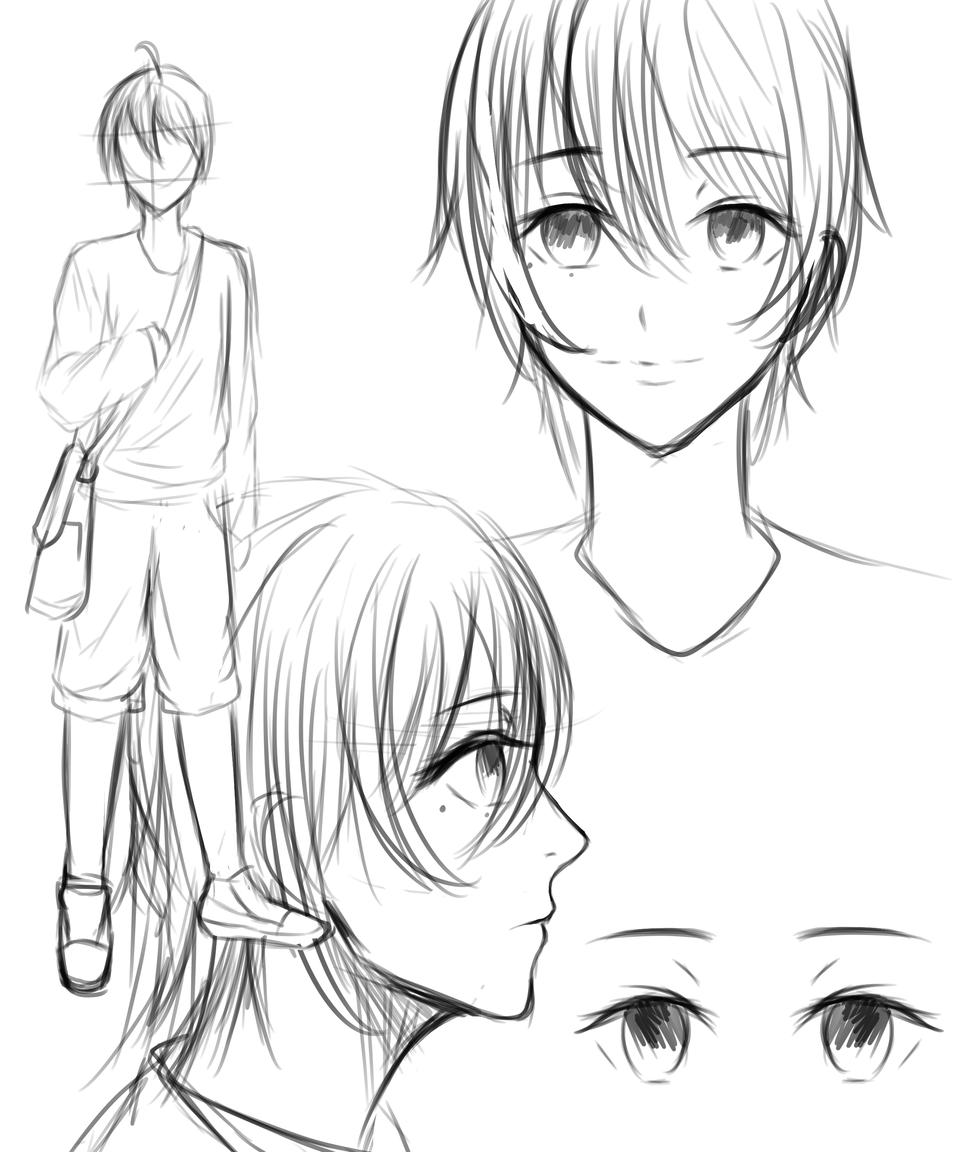 ~Sketch~ Illust of Heilenra_act BL sketch Comics animestyle medibangpaint animeboy oc
