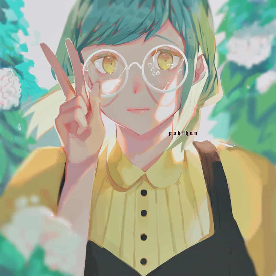 Spring rain  Illust of poki.han anime painting raining flowers rain girl plants pretty