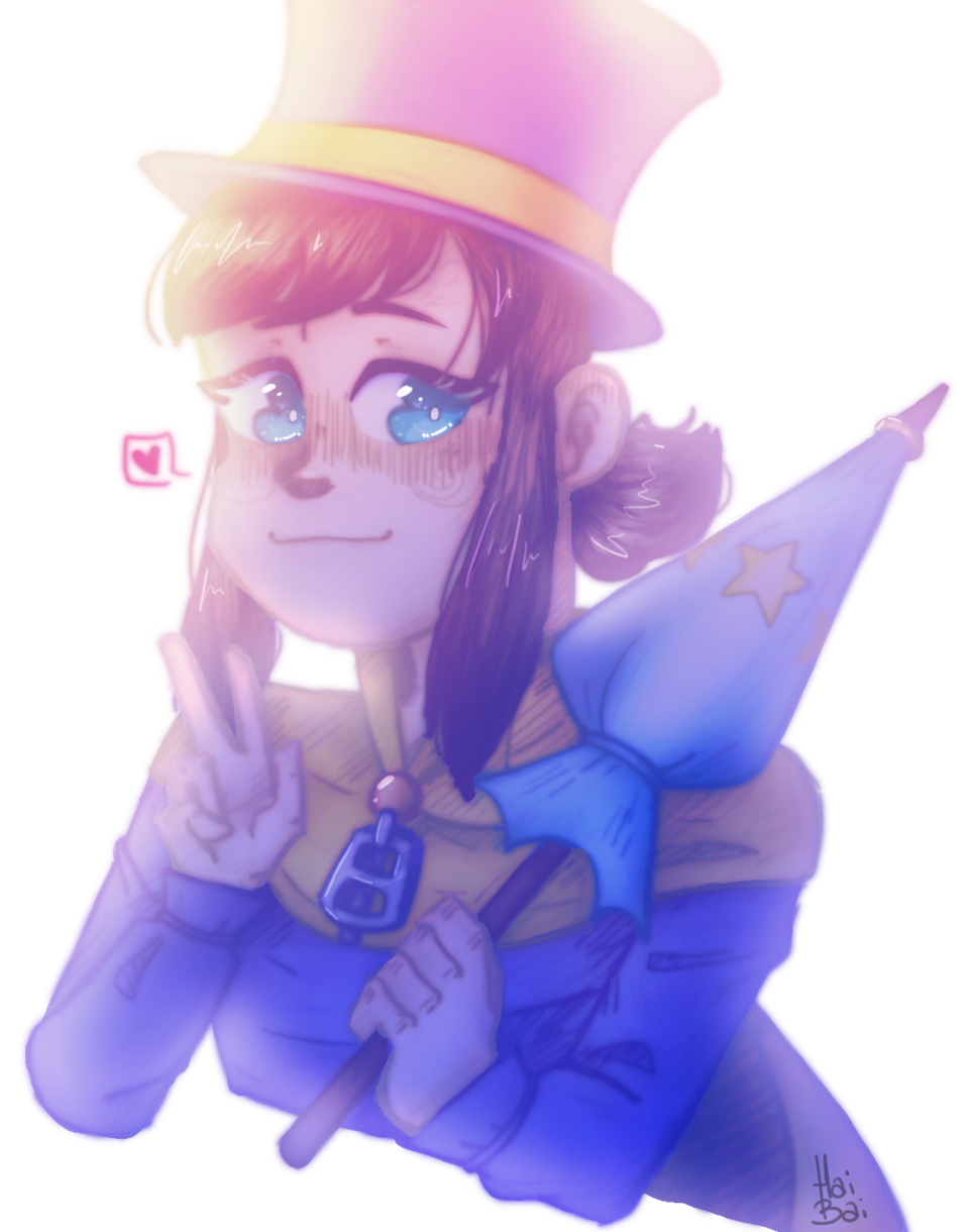 IM LOWKEY PROUD OF THIS Illust of Hai Bai game fanart hat_in_time doodle hat_kid