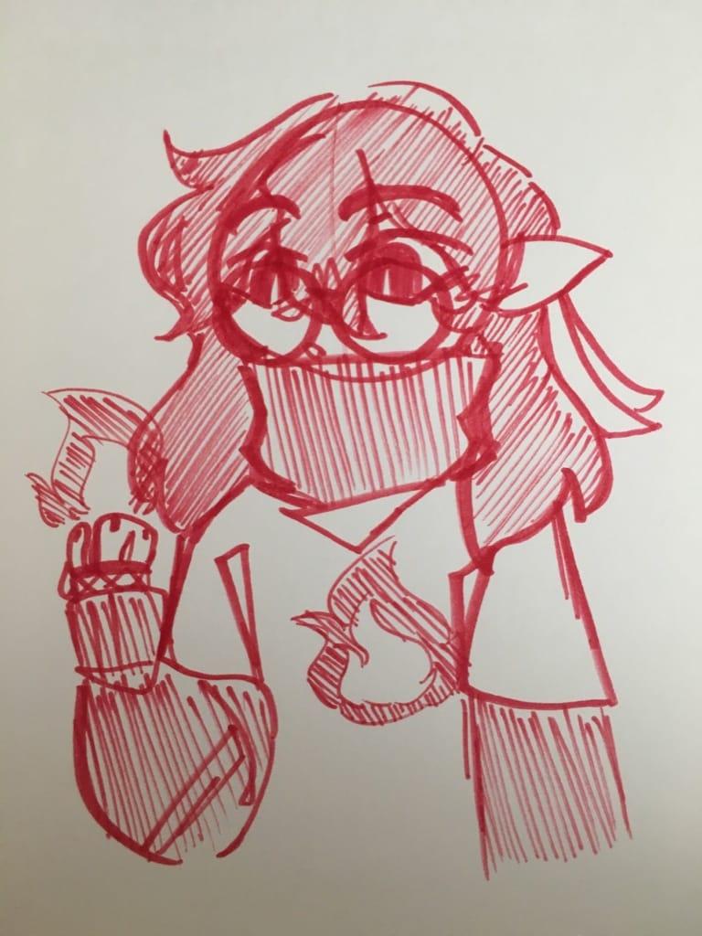 fan/gift art for bella!! Illust of glue eater   lovestruck SappyBella fanart giftart