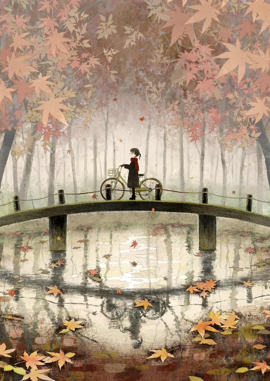 秋のさざめき Illust of ツユキサヤ Sep.2019Contest 紅葉 forest original girl autumn