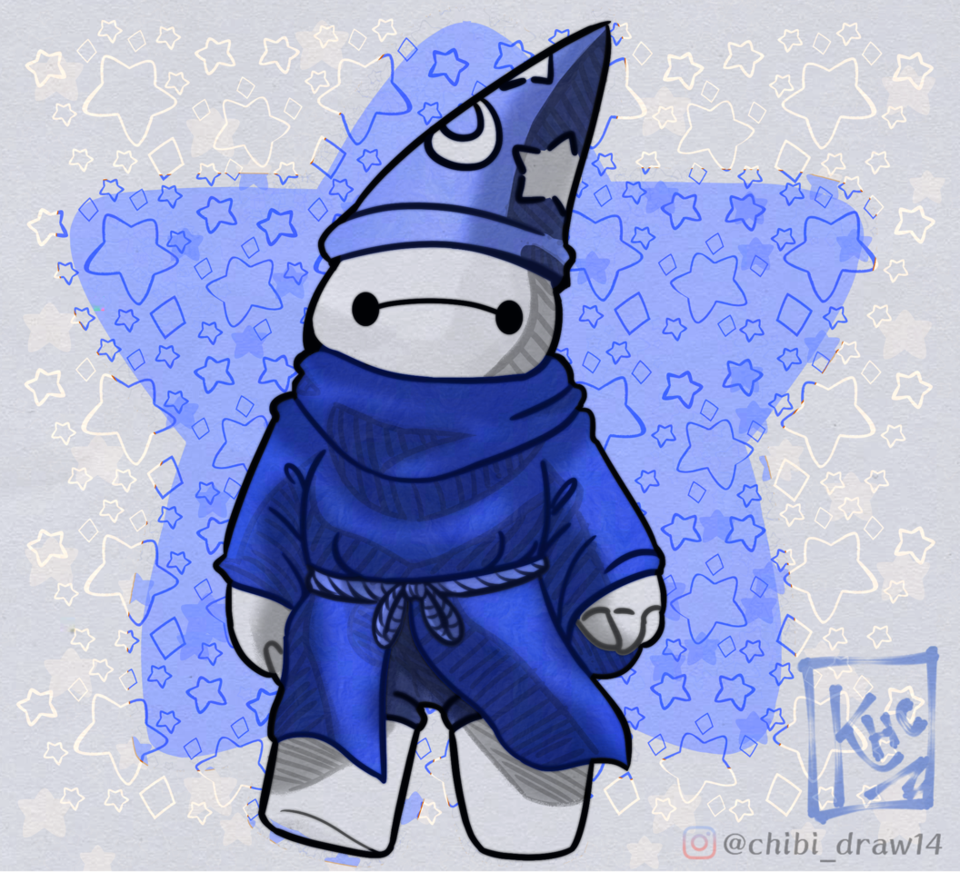 Baymax ♥ Illust of Karenhc May2021_Monochrome illustration beautiful fanart kawaii digital chibi drawing superhero color cute