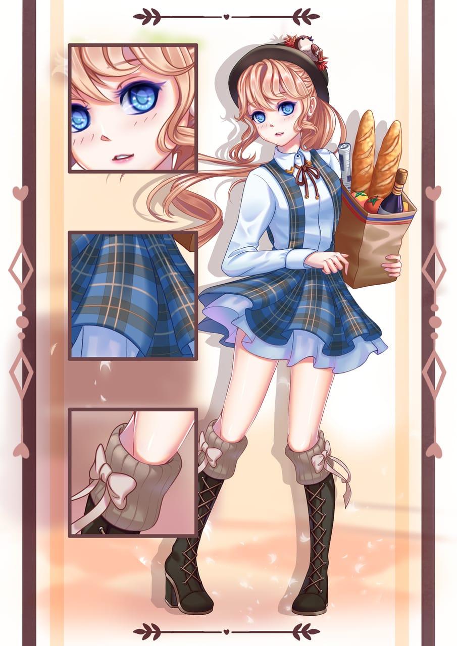 Line Play Game's Avatar Illust of Kuro Yume fullbody mangacolor lolita mangadrawing lineplay digitalillustration mangagirl Mangacoloring Mangaart digitaldraw