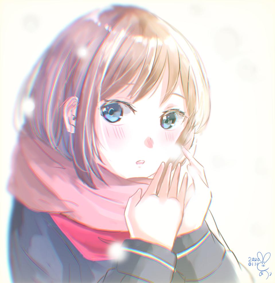 冬 Illust of とめ🐰 winter girl sailor_uniform snow