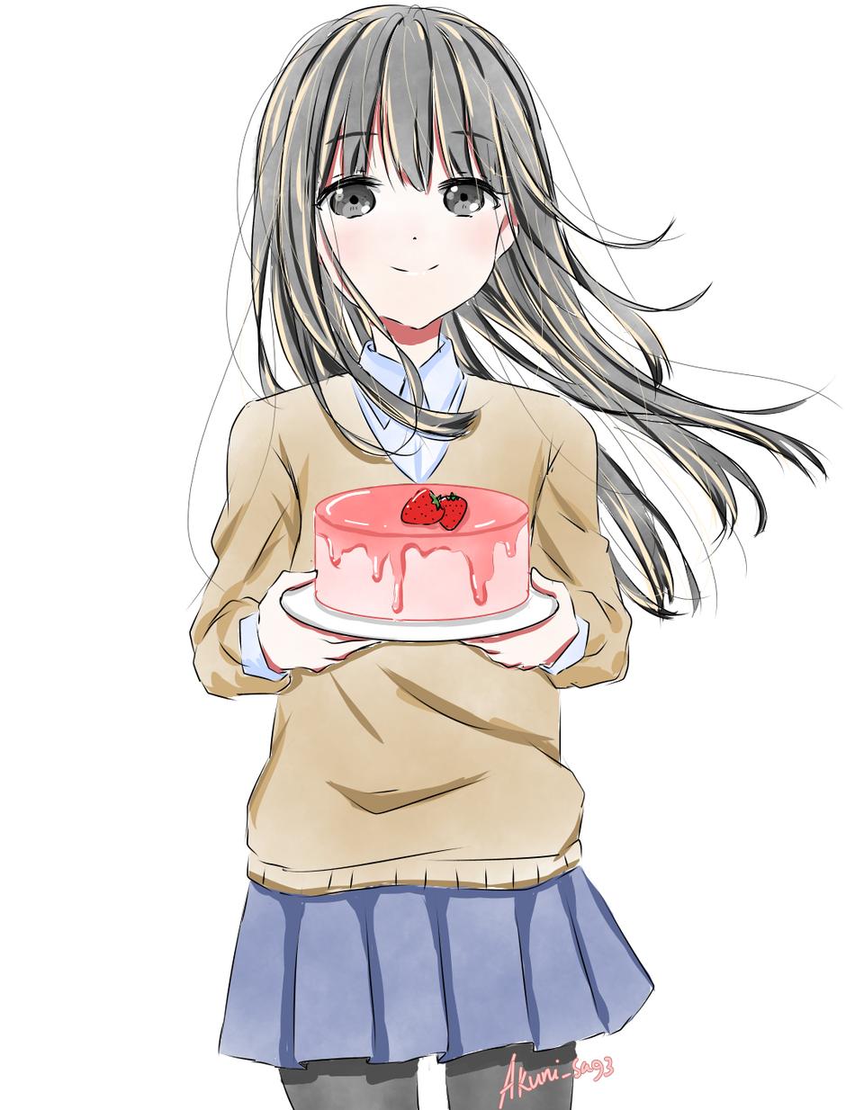 Happy birthday! (≡^∇^≡) Illust of Kanon medibangpaint anime girl birthday illustration animegirl