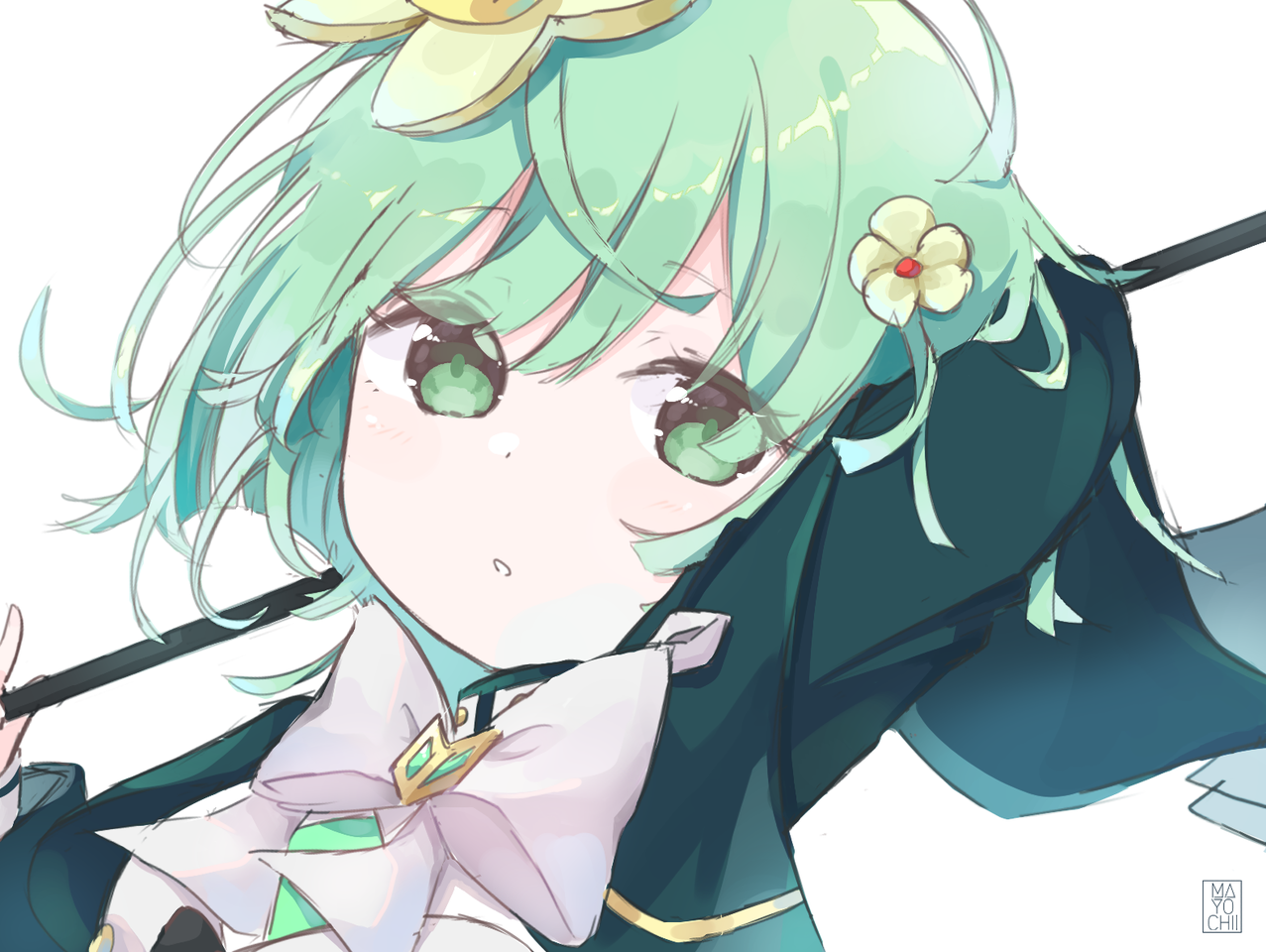 Kako Illust of Chi medibangpaint anime girl magiarecord magicalgirl fanart videogame Puella_Magi_Madoka_Magica