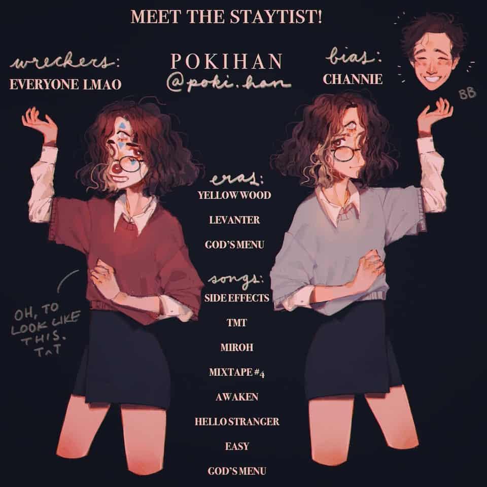 Meet the stay-tist! ('Stray kids artist) Illust of poki.han Stray artist Skz kids Meettherartist