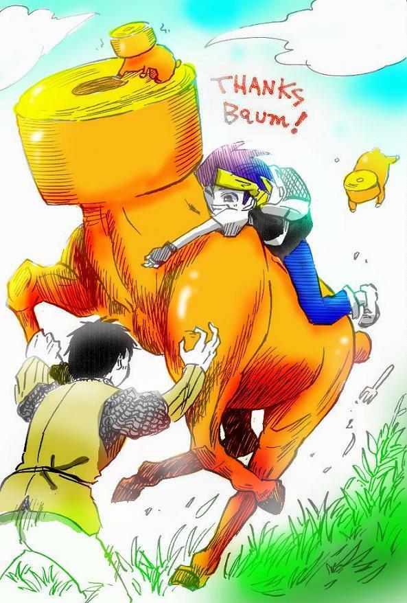 馬ウムクーヘン Illust of どべび March2021_Creature February2021_Fantasy oc お菓子 バウムクーヘン original