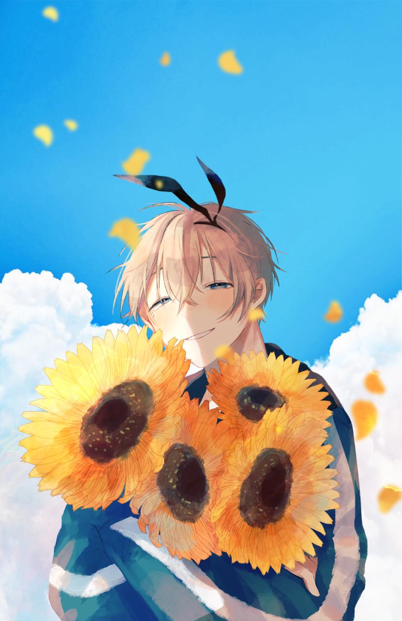 ひまわり Illust of 六六 April2021_Flower boy