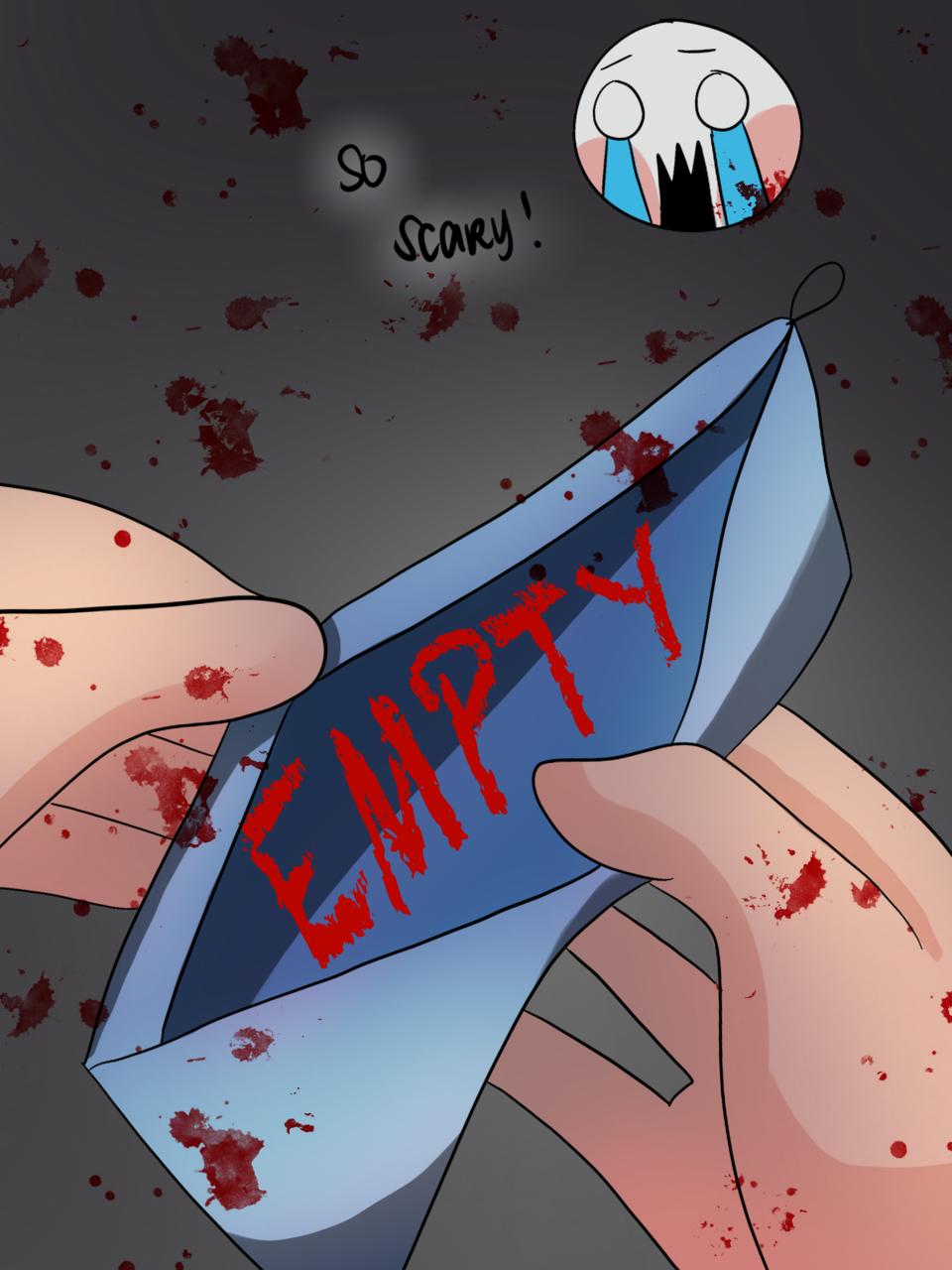 Empty Illust of Miochii / ミオチイ horror August2020_Contest:Horror art medibangpaint iPad_raffle
