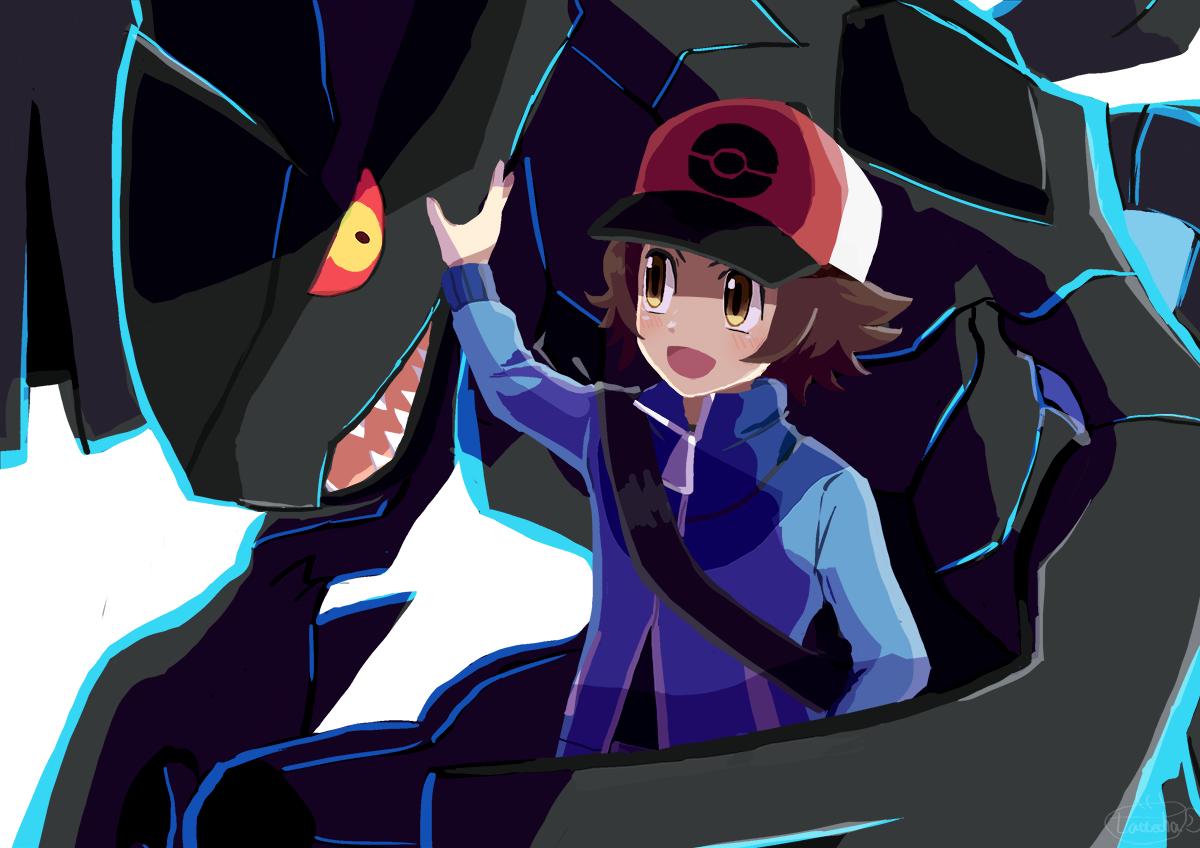 ゼクロムとトウヤくん Illust of ラテ茶 トウヤ(ポケモン) pokemon ゼクロム