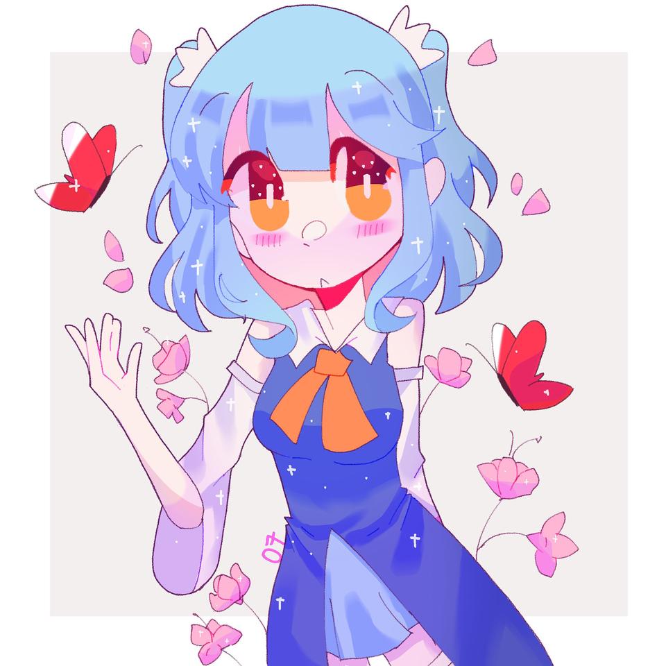 Illust of pErSon medibangpaint girl oc blue