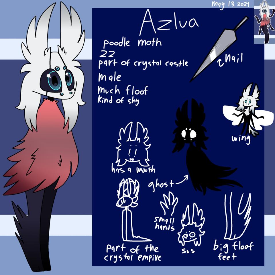 Azlua ref sheet Illust of 🍂Ash🍂 Hollow oc Hollow_Knight Knight crystalempire