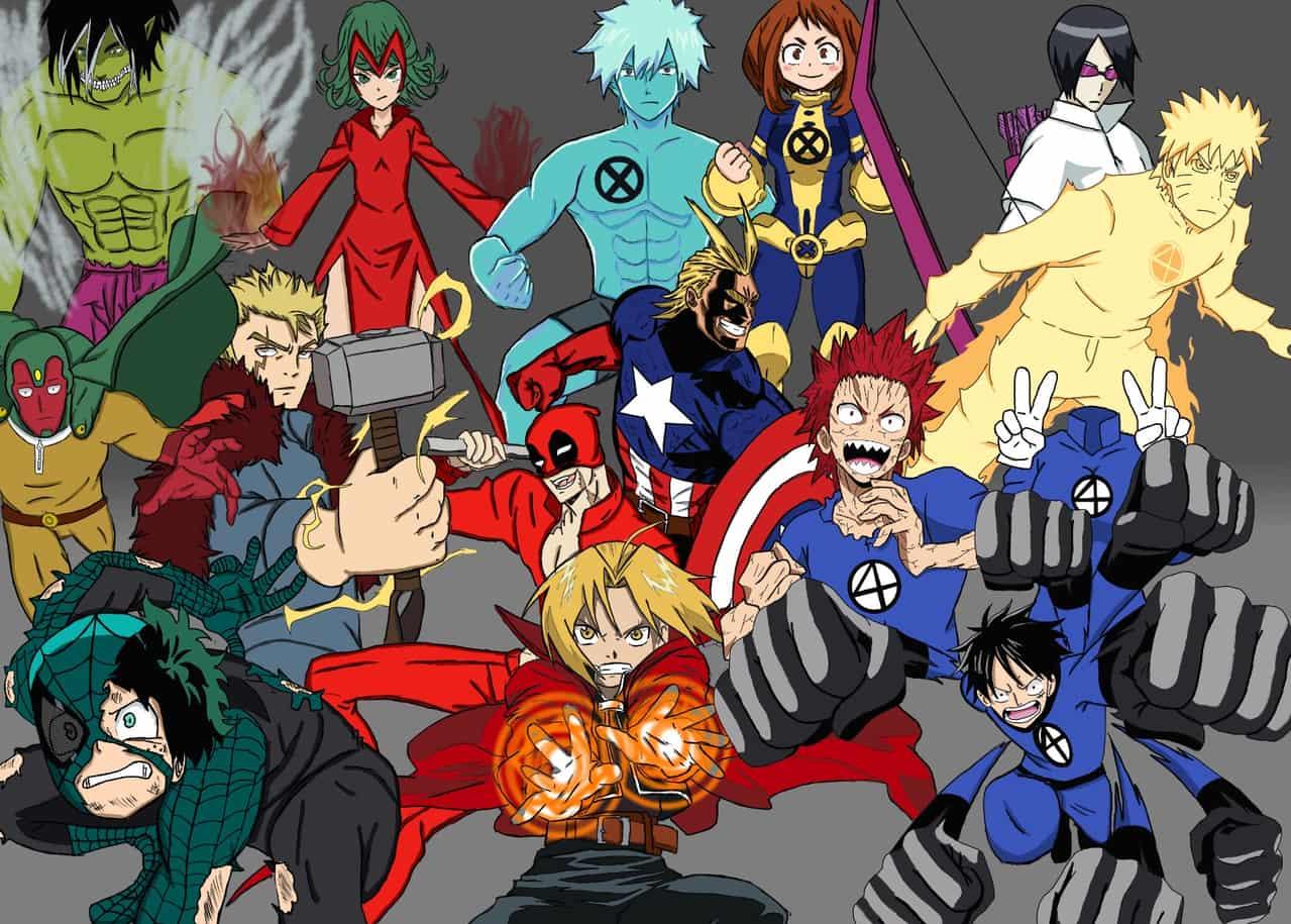 Anime Characters as Marvel Characters  Illust of Johnzanarini