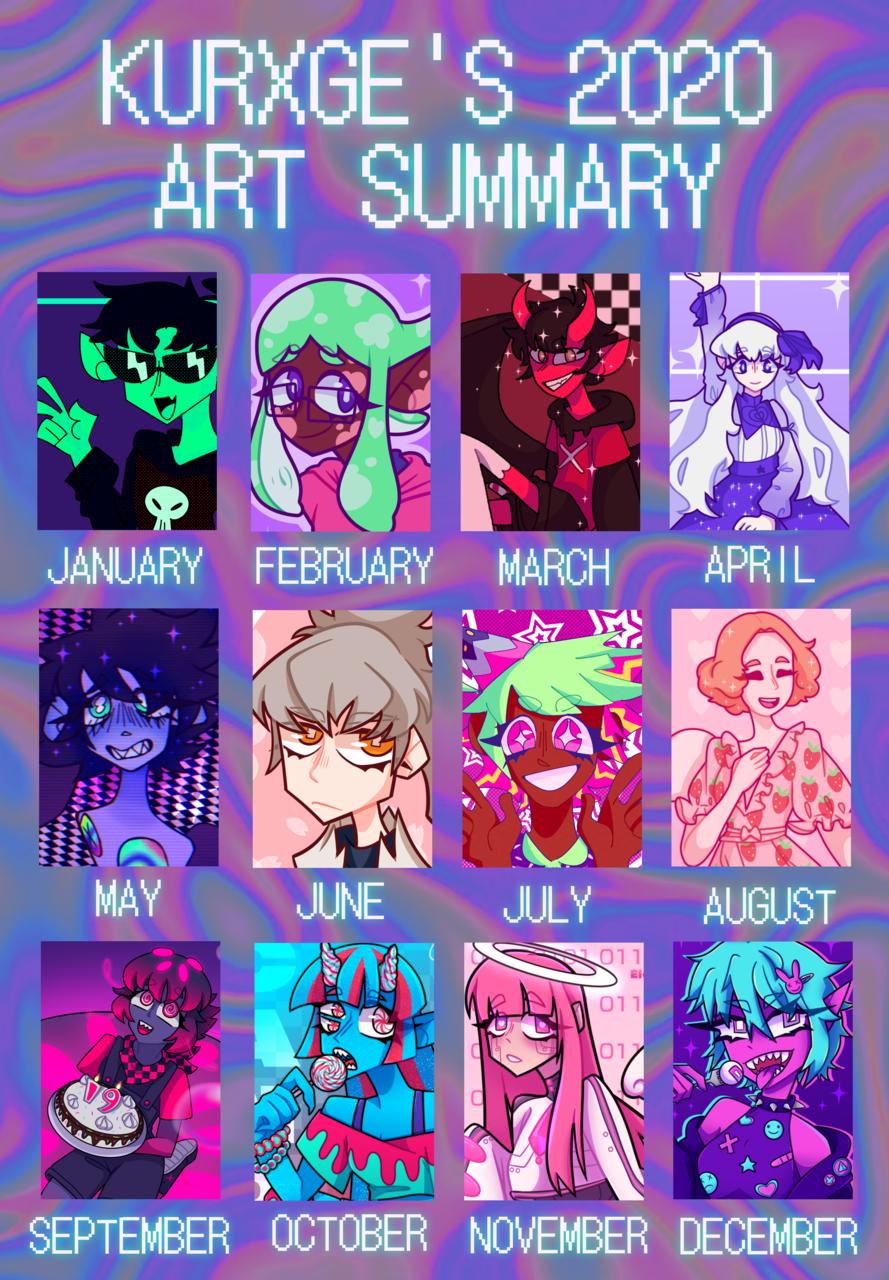 Art Summary 2020 Illust of kurxge anime artsummary2020 girl Cookie_Run aesthetic medibang fanart summaryofart2020 Persona5 Splatoon