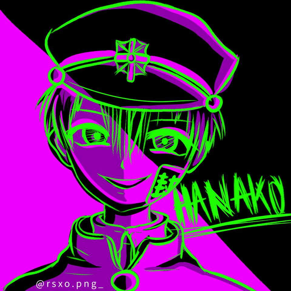 Hanako-kun Illust of rsxo.png_ purple fanart hanakokun hanako medibangpaint Hanako-kun