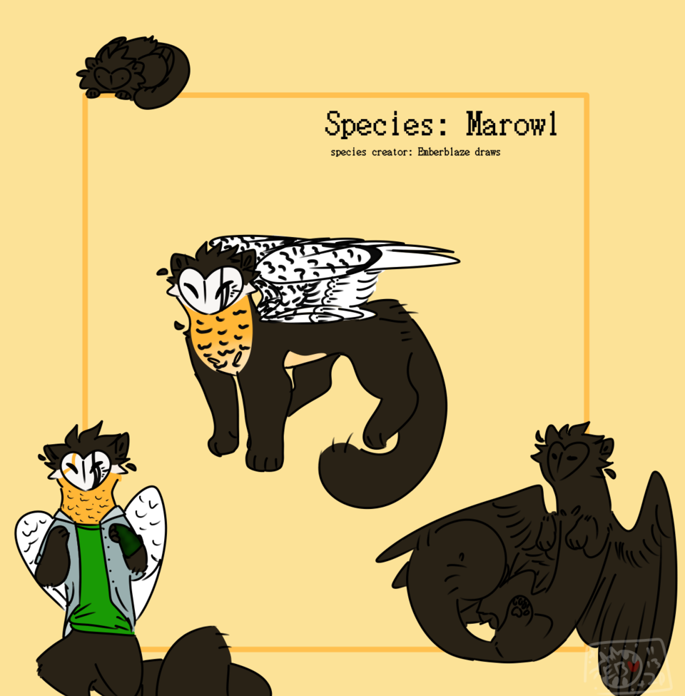 Custom for Squeaky  Illust of Skye Finch (•♬• sᴏᴄᴋ-ʙᴀɪᴛ™ •♬•) medibangpaint owl Marowl Martin originalspecies wings martin ref