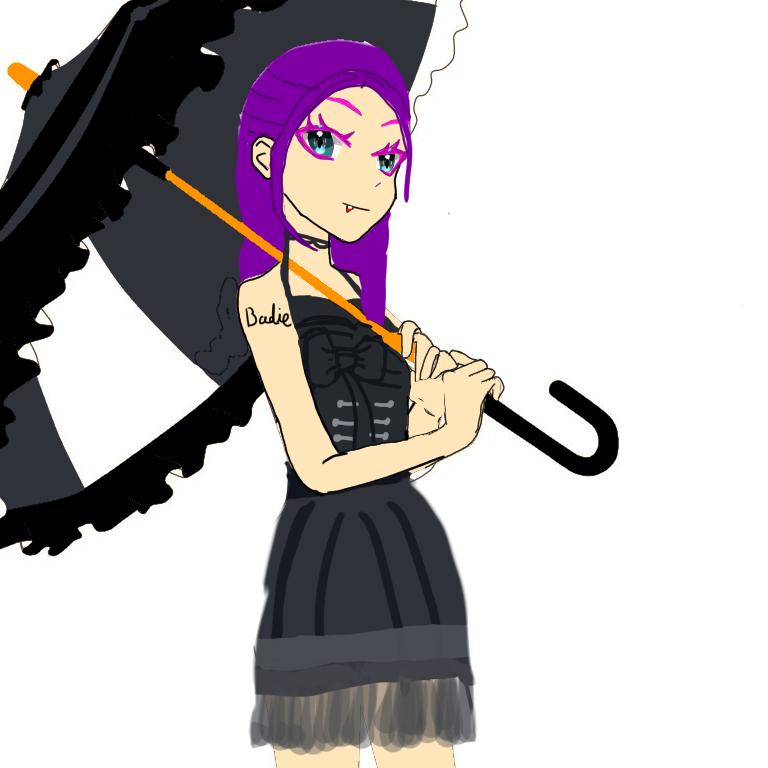 Hazel . Randomised OC  Illust of kyokacola Cool anime pigeon purple cute Hazel vampire