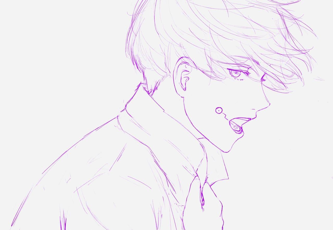 Juju Sketches Illust of Ocat_illu JujutsuKaisen fanart JujutsuKaisenfanart Megumi_Fushiguro line_art 呪術廻戦ファンアート inumakitoge