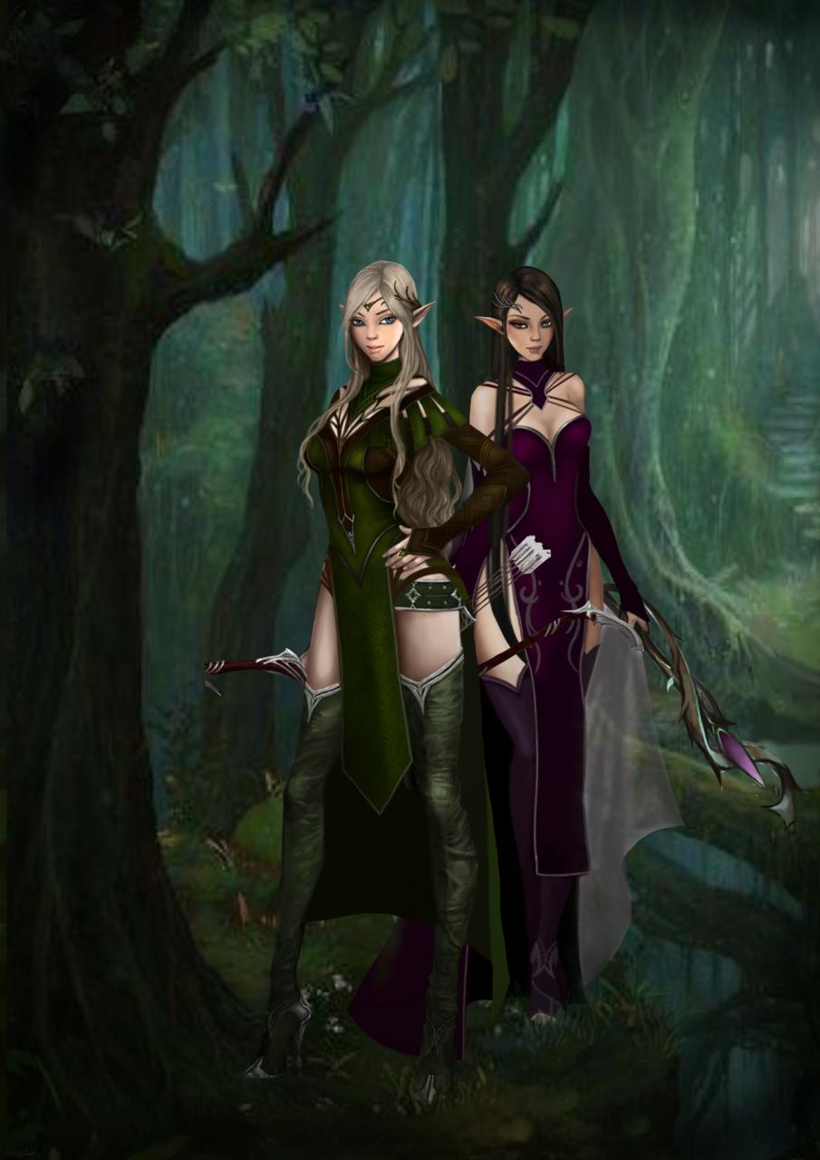 elfas del bosque arqueras 1 Illust of Andrea Michel medibangpaint