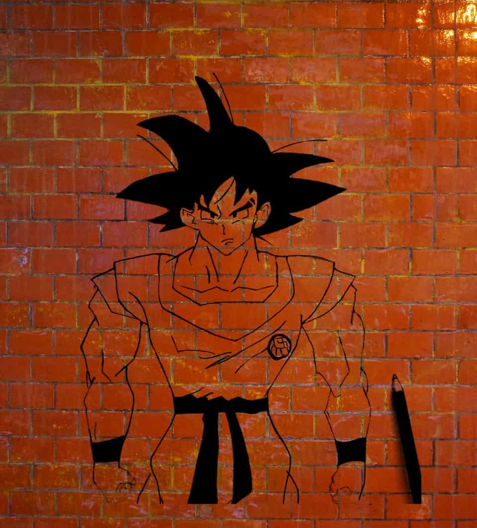 Dragonball Goku Wall Art Illust of Sinchan96 witch illustration digital anime dragon drawing Goku medibangpaint art