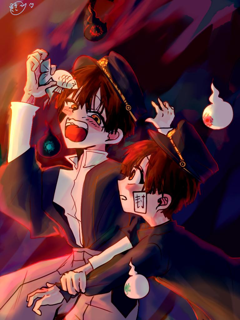 츠카아마♥︎ 얘들도 케미터짐2 Illust of 롤롤(반동결) boy painting Man art Toilet-boundHanako-kun
