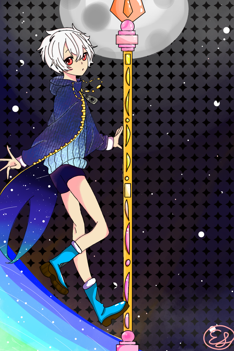 Full Body! (for once in my life) Illust of REI medibangpaint space pretty oc magic galaxy