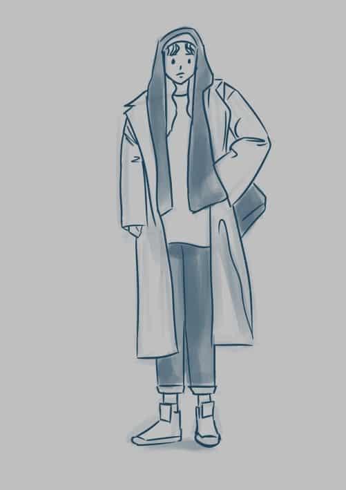#MedsFallFashionChallenge #2 Illust of lrnart97 medibangpaint iPad_raffle girl Challenge Fashion drawing boy
